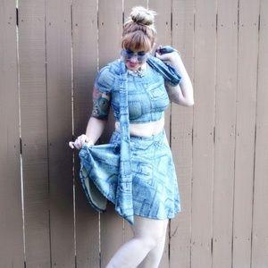 96bb4816e5b96c Dresses & Skirts - Baby Jean Skirt and Crop Set